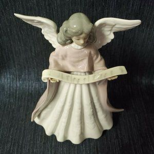 Lladro Angel Tree Topper Figurine, Hand Painted